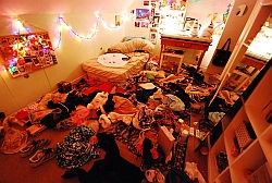 A picture of a messy room offering no spiritual sustenance