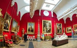 The Nash gallery in Buckingham Palace